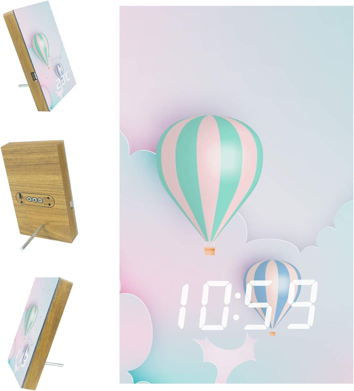 Indimization LED Clock wholesale Hot Financial sales sale air Balloon A Digital Cartoon Romance