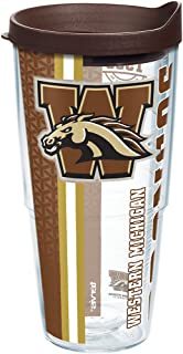 Tervis Western Michigan Broncos College Pride Tumbler with Wrap and Brown Lid 24oz, Clear