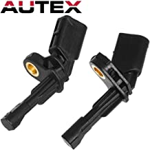 AUTEX 2PC Rear Left & Rear Right ABS Wheel Speed Sensors ALS469 1k0927807 Compatible with AUDI A3 2006-2013/AUDI TT 2008-2009/SEAT LEON 2007-2011/Replacement for VOLKSWAGEN BEETLE 2012-2017