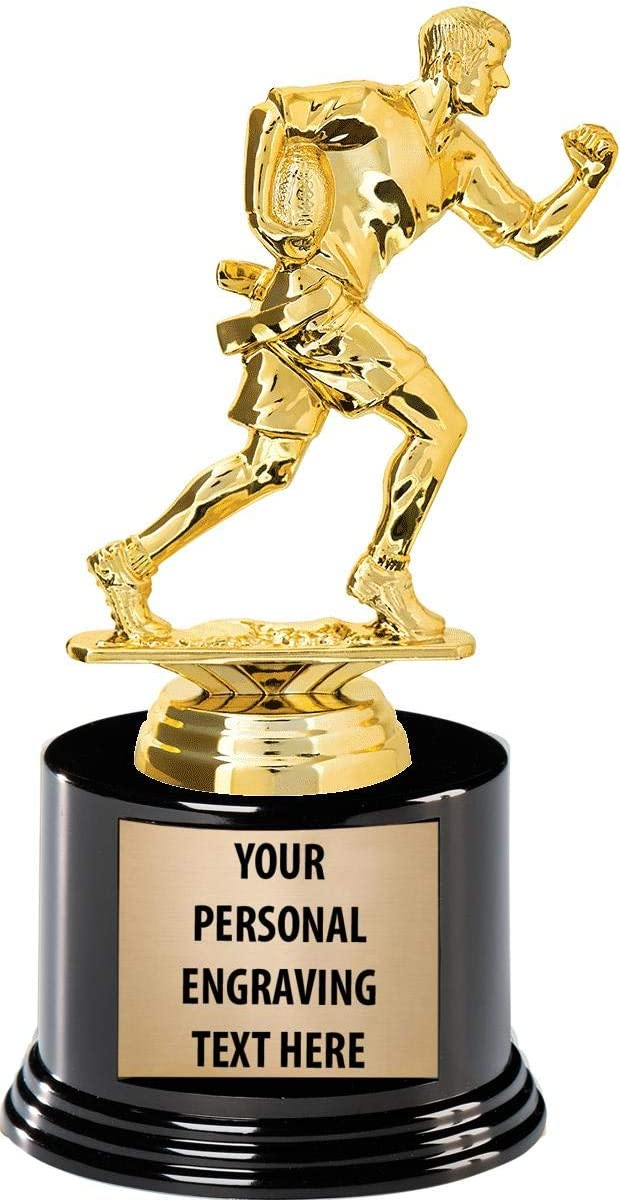 Crown Awards Flag Super sale Football Trophies Engraving Custom with Factory outlet 7.25