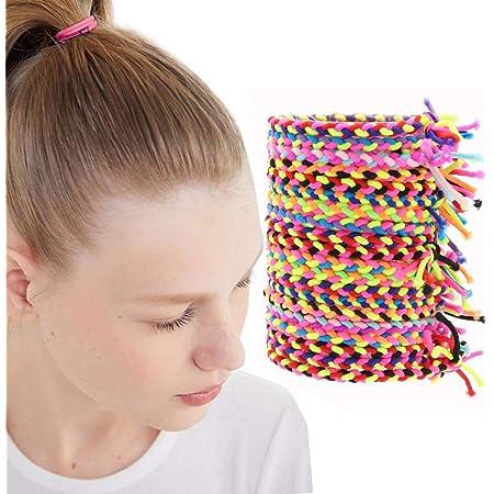 100X Elastic Rope Women Girl Kid Hair Ties Ponytail Holder Head Band Hairbands