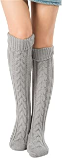 Women's Cable Knit Long Boot Stocking Socks Knee High Winter Leg Warmers