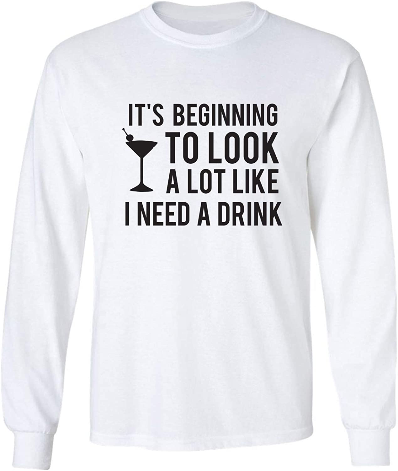It's Beginning to Look A Lot Like Adult Long Sleeve T-Shirt in White - XXX-Large