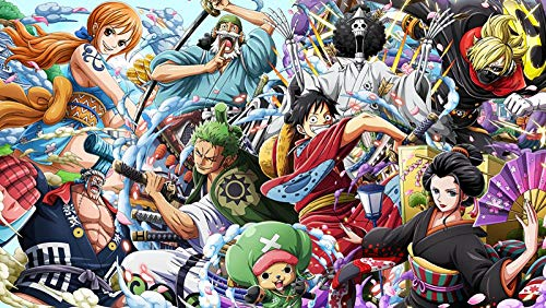 XYDH 500 PièCes Puzzles pour Adultes -Anime One Piece Puzzle Jeux éDucatifs Intellectuels,Puzzle en Bois,Ensembles De Casse-TêTe pour La Famille pour Les Enfants Adultes/52 * 38CM