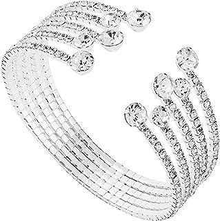Rhinestone Bracelet for Women Cuff Bracelet for Party Prom Wedding Fashion Bracelet for Girls