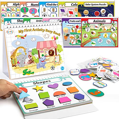 teytoy Baby Busy Board Book Montessori Toys Activity Book for Match Game...