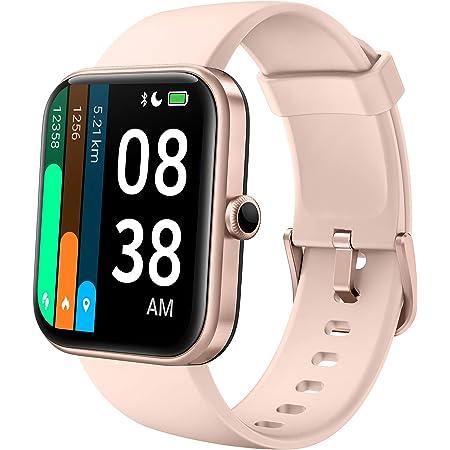 Smartwatch, YONMIG 1,69'' Full Touch Schermo Orologio Fitness con Alexa Integrata/Saturimetro(SpO2), Cardiofrequenzimetro da polso Donna Uomo, Activity Tracker 5ATM Sportivo Calorie per Android iOS