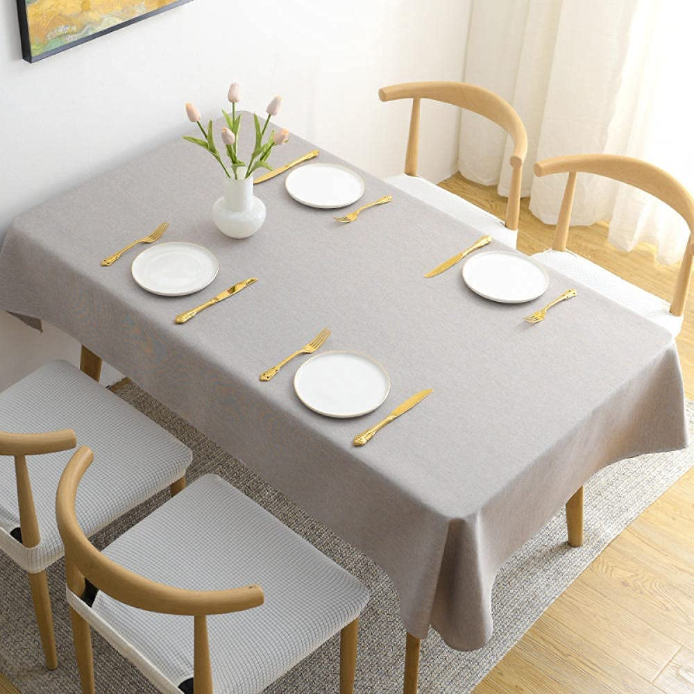 TTSHOP Tulsa Mall Table Cover Water-Washing Gorgeous Tablecloth Hote Durable Square