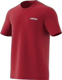 adidas Men's Essentials T-Shirt, Red (Active Maroon/white), Medium