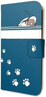 パンダと犬 01 ネイビー 手帳型スマホケース iPhone6/6S/7/8兼用