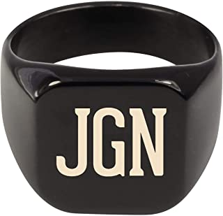 Molandra Products JGN - Adult Initials Stainless Steel Ring