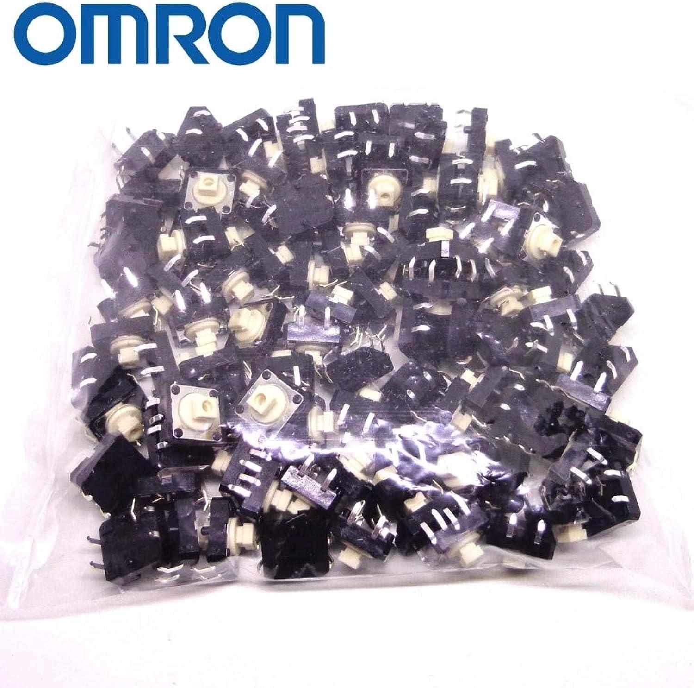 Original OMRON Tactile Switch 100PCS B3F4000 B3F4050 B3F4055 B3F4005 B3F5000 Brand New and Original  (color  100PCS B3F4050)