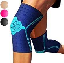 Sparthos Knee Compression Sleeves by (Pair) – Joint Protection and Support for Running, Sports, Knee Pain Relief – Knee Brace for Men and Women – Innovative Breathable Elastic Blend – Anti Slip