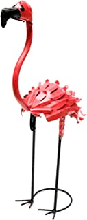 Rustic Arrow Small Flamingo with Feathers for Decor, 12 by 8 by 24-Inch, Pink