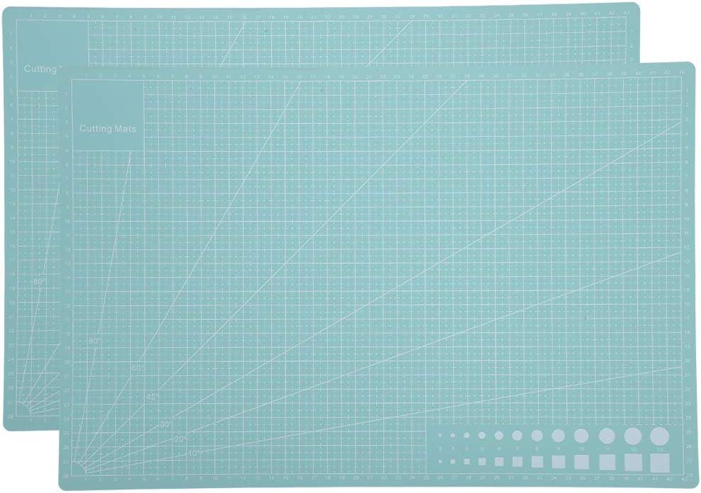 Zerodis free shipping 2Pcs Self Healing Cutting Mint Green A3 Opening large release sale Mat PVC