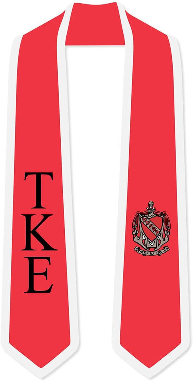 Ranking TOP12 Tau Special price for a limited time Kappa Epsilon TKE Greek 2 Lettered Stol Tone Sash Graduation