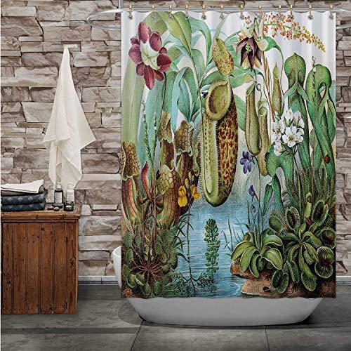 Hitecera Venus Fly Trap FlytrapShower Curtain Carnivorous Plant for Bathroom Decor 72#039#039Wx72#039#039H