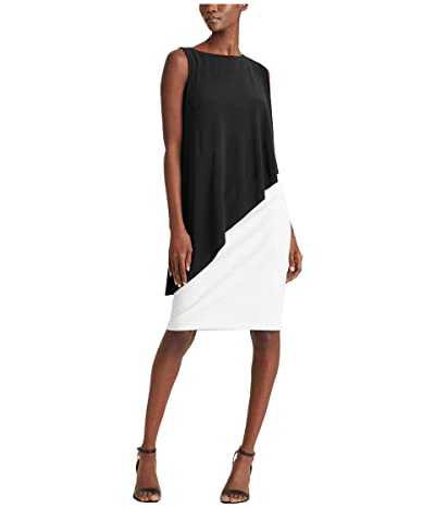 LAUREN Ralph Lauren Erlina Dress (Black/Lauren White) Women