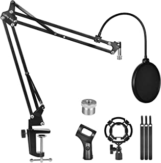 Microphone Stand for Blue Yeti,Boom Arm Scissor Mic Stand...