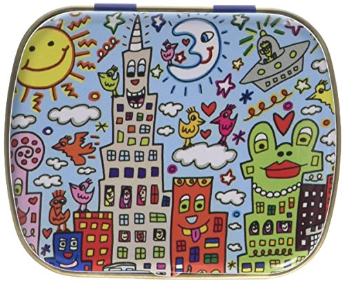 Fridolin Minidöschen James Rizzi-My New York City aus Metall, bunt, 6.3x5.2x1.8 cm