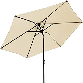 Sorbus Outdoor Umbrella, 10 ft Patio Umbrella with Tilt Adjustment and Crank Lift Handle, Perfect for Backyard, Patio, Deck, Poolside, and more (Beige)