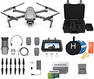 DJI Mavic 2 Pro with DJI Smart Controller Drone Bundle with Two Extra Batteries, Landing Pad, 128GB SD Card, Waterproof Hard Carrying Case