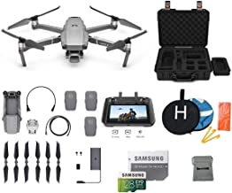 $2399 » DJI Mavic 2 Pro with DJI Smart Controller Drone Bundle with Two Extra Batteries, Landing Pad, 128GB SD Card, Waterproof Hard Carrying Case