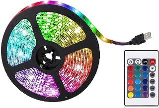 LED-stripverlichting, 0,5m RGB LED-lichtstrip, LED-kleurveranderend licht met 24 toetsen Afstandsbediening, GEEN batterij,...