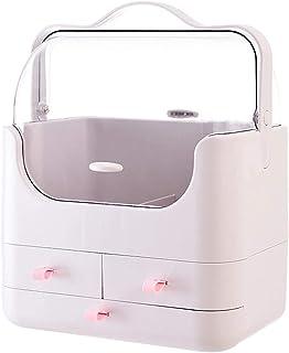 Subobo Boîte de rangement multifonctionnelle de grande capacité pour produits cosmétiques - Organiseur de bureau résistant...