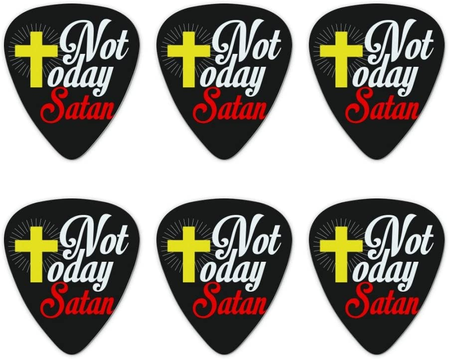 Not Today Satan Cross Christian Novelty Picks Max Virginia Beach Mall 46% OFF M Guitar Religious