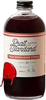 Pratt Standard Cocktail Company Old Fashioned Authentic Grenadine Syrup for Cocktails, 16 oz