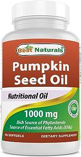 Best Naturals Pumpkin Seed Oil 1000 mg 90 Softgels