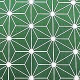 Kt KILOtela Tela de loneta Estampada - Retal de 300 cm Largo x 280 cm Ancho   Diamante - Verde, Blanco ─ 3 Metros