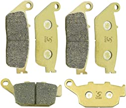SYUU Motorcycle Replacement Front Rear Brake Pads Brakes for Triumph Street Triple 675 2007-2012 Tiger 800 XC XCa XCx XR XRt XRx 2015 2016 2017 2018 FA226F FA140R