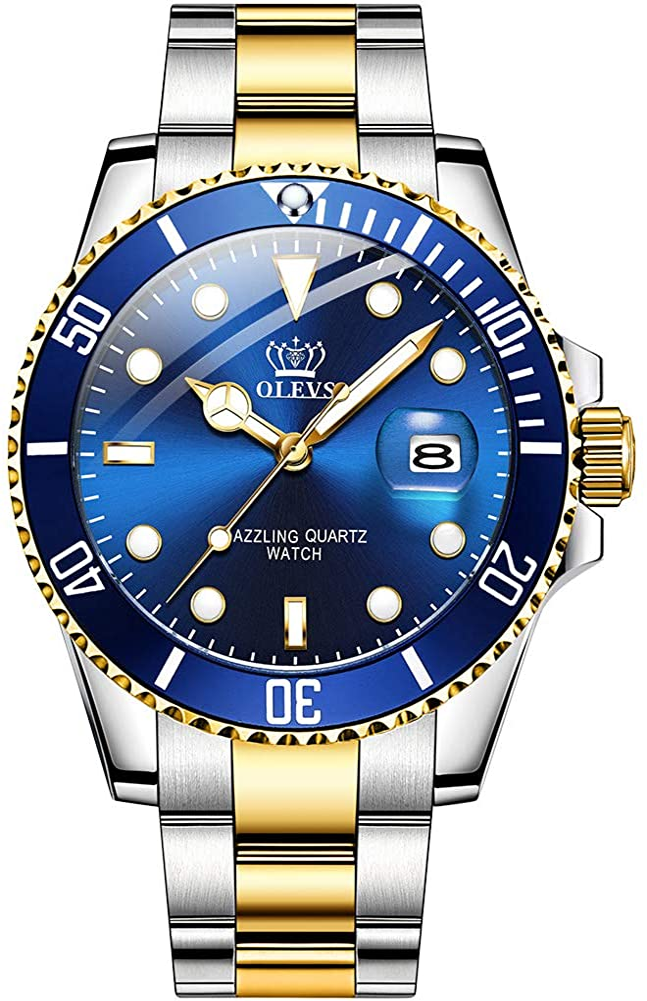 Buy OLEVS Men's Watch Fashion Classics Luminous Deep Waterproof Watch Water Ghost Series Men's Quartz Watch with Stainless Steel Strap - Non Mechanical Watch Online in Indonesia. B08CV7ZBC1