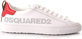 DSQUARED2 Scarpe Uomo Lace-up Low Top Sneaker San Diego SNM0167 M1747 Bianco