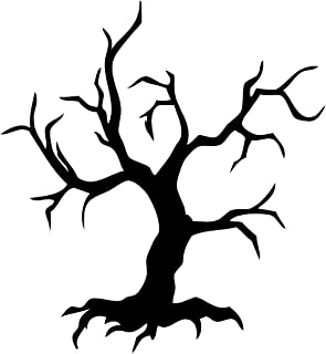 Newclew Tree spooky Halloween Wall Decal Sticker Art Fun Décor