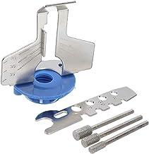ZOYOSI Afilador de sierra de cadena para afilar guía de afilado, adaptador de taladro de piedra – azul