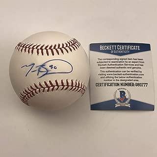 Autographed/Signed Mookie Betts Rawlings Official Major League Baseball ROML Beckett BAS COA Auto
