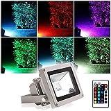 Projecteur LED Extérieur RGB/RVB 10W Etanche IP65 Blinngo Prise EU 16 Couleurs...