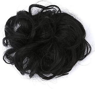 Hair Bun Extensions Messy Hair Scrunchies Hair Pieces Women Hair Donut Updo Ponytail Easy to Wear Curly Hair LIM&Shop
