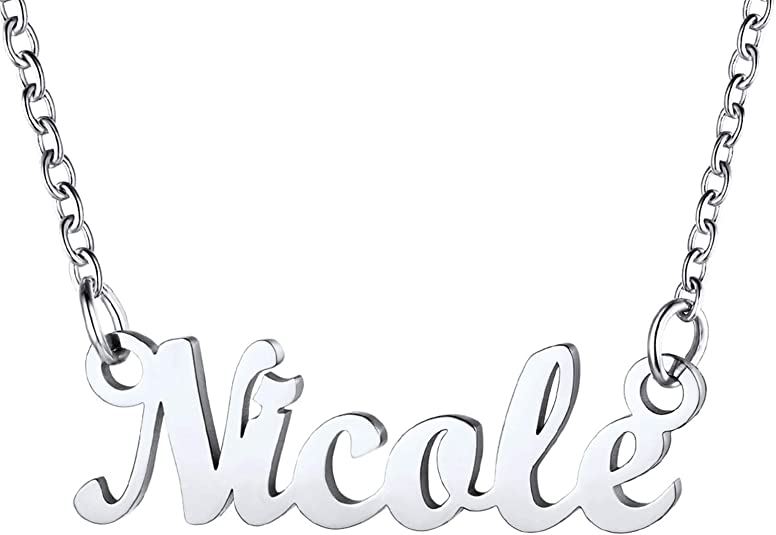 U7 Personalized Name Necklace Stainless Steel
