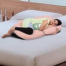 Novo 2.5kg PP Cotton comfort Pregnancy & Maternity Pillow, Peach - 145x80x25cm