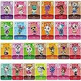 TPLGO Cartes de Jeu NFC Tag pour Animal Crossing, 24 pièces Cartes de Jeu NFC avec étui en Cristal Compatible avec Nintendo Switch/Wii U