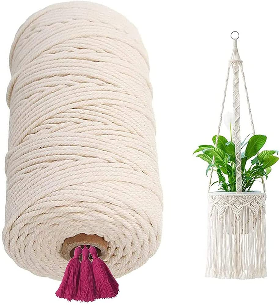 1 year warranty GerTong Macrame Cord 2mm x 250m online shopping Co Cotton DIY Hand-Woven