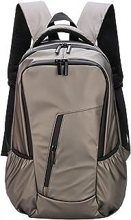 Laptop Backpack for Men Women, Waterproof Lightweight Working Bag with Trolley Sleeve (Gold)