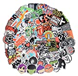 Band Stickers 100 Pcs Rock and Roll Music Stickers, Vinyl Waterproof Stickers for Personalize Laptop, Electronic Organ, Guitar, Piano, Helmet, Skateboard, Luggage Graffiti Decals
