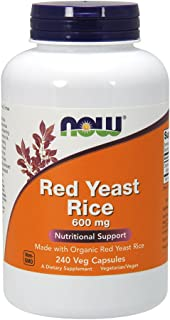 NOW Foods Red Yeast Rice 600 mg, 240 Count (Pack of 1)