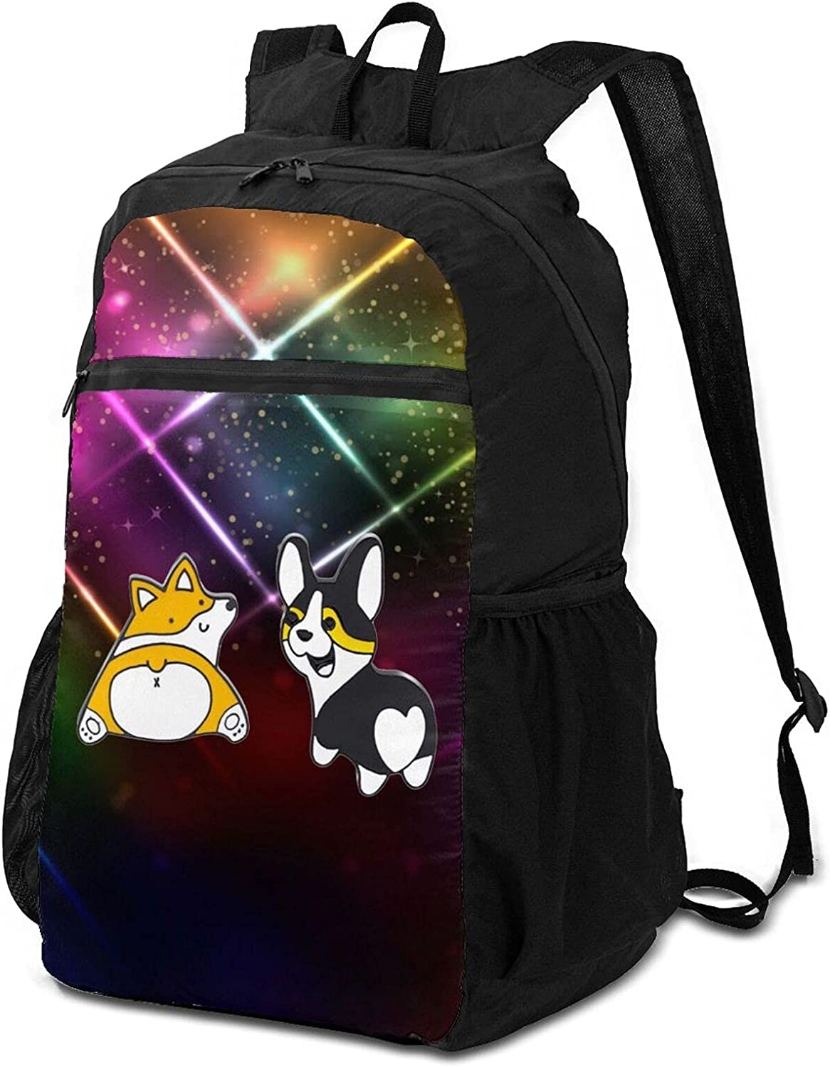 Max 49% OFF Corgi Heart Butts Fashion Classic Lightweight Branded goods Backpack Packable