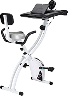 ALINCO(アルインコ) フィットネスバイク ながらバイク4518 折りたたみ 背もたれ付き デスク付き 負荷8段階 AFB4518